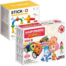Купить Magformers Fixie Wow Set + Stick-O Basic 10 Set