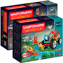 Купить Magformers Walking Robot Set + Jungle Adventure Set