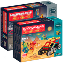 Купить Magformers Walking Robot Set + Desert Adventure Set